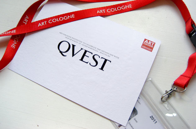Invitation for QVEST & Art Cologne Opening Party (1)