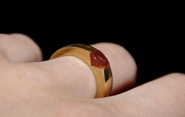 Ring with goldstone by Sharokina (2)