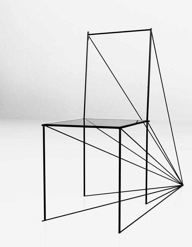Perspective Chair by Artem Zigert