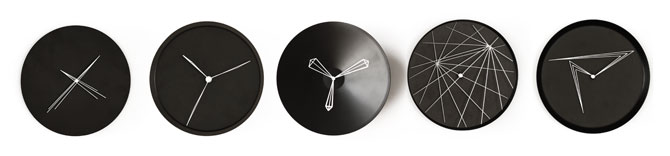 Perspective Clocks by Studio Ve