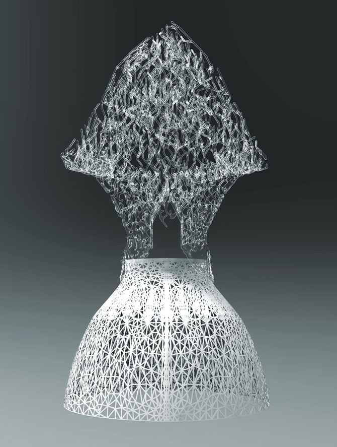 Bristle Dress by Francis Bitonti